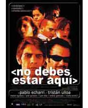 Imagen poster cartel película NO DEBES ESTAR AQUÍ
