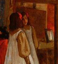 Alice in the Mirror, de William Merritt Chase. Parrish Art Museum